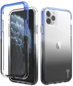 iPhone 11 Pro Max Clear Case - Full Body Colorful Phone Cover - Gradient Series