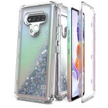 Load image into Gallery viewer, LG Stylo 6 Clear Liquid Glitter Case -  Full Body Tough Military Grade Shockproof Phone Cover