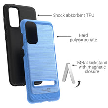 Load image into Gallery viewer, Samsung Galaxy S20 Case - Metal Kickstand Hybrid Phone Cover - SleekStand Series