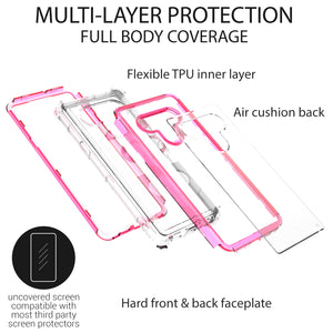 LG Stylo 6 Clear Liquid Glitter Case -  Full Body Tough Military Grade Shockproof Phone Cover