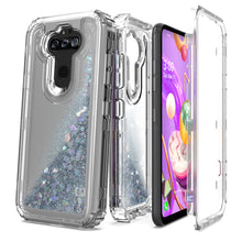 Load image into Gallery viewer, LG Tribute Monarch / Risio 4 / K8x Clear Liquid Glitter Case -  Full Body Tough Military Grade Shockproof Phone Cover