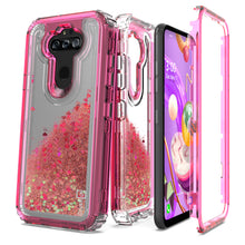 Load image into Gallery viewer, LG Phoenix 5 / Fortune 3 Clear Liquid Glitter Case -  Full Body Tough Military Grade Shockproof Phone Cover