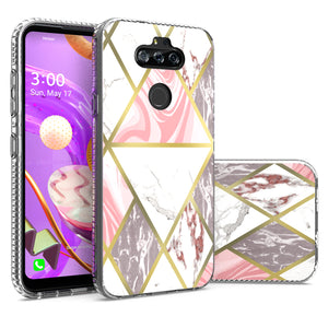 LG Tribute Monarch / Risio 4 / K8x Design Case - Shockproof TPU Grip IMD Design Phone Cover