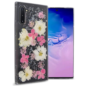 Samsung Galaxy Note 10 Flower Case Handmade Slim Fit TPU Phone Cover - Real Flower TPU Series