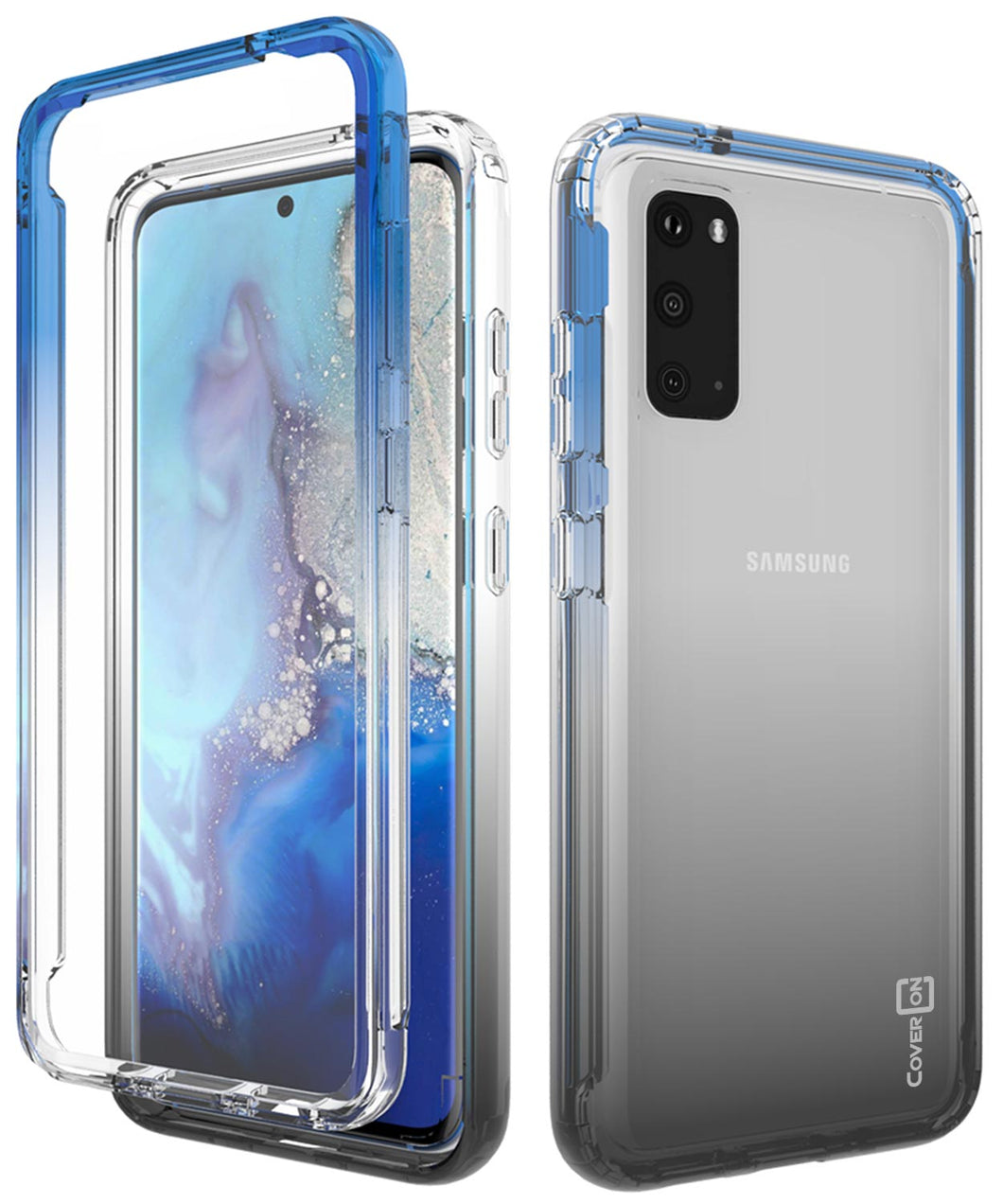 Samsung Galaxy S20 Clear Case - Full Body Colorful Phone Cover - Gradient Series