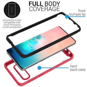 Samsung Galaxy S10 Plus Case - Heavy Duty Shockproof Clear Phone Cover - EOS Series