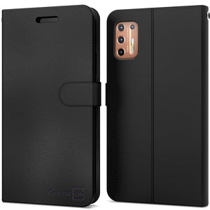 Motorola Moto G9 Plus Wallet Case - RFID Blocking Leather Folio Phone Pouch - CarryALL Series
