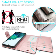 Load image into Gallery viewer, Samsung Galaxy S21 Plus Wallet Case - RFID Blocking Leather Folio Phone Pouch - CarryALL Series