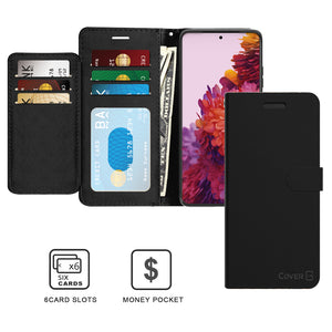 Samsung Galaxy S21 Ultra Wallet Case - RFID Blocking Leather Folio Phone Pouch - CarryALL Series
