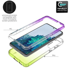 Load image into Gallery viewer, Samsung Galaxy S21 Clear Case Full Body Colorful Phone Cover - Gradient Series