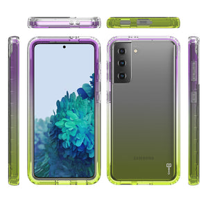 Samsung Galaxy S21 Clear Case Full Body Colorful Phone Cover - Gradient Series
