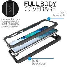 Load image into Gallery viewer, Samsung Galaxy S21 Case - Heavy Duty Shockproof Clear Phone Cover - EOS Series