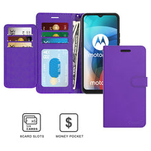 Load image into Gallery viewer, Motorola Moto E7 Wallet Case - RFID Blocking Leather Folio Phone Pouch - CarryALL Series