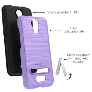 AT&T Calypso Case - Metal Kickstand Hybrid Phone Cover - SleekStand Series