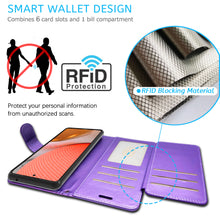 Load image into Gallery viewer, Samsung Galaxy A52 5G Wallet Case - RFID Blocking Leather Folio Phone Pouch - CarryALL Series