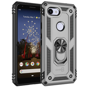 Google Pixel 3a Case with Metal Ring Kickstand - Resistor Series