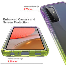 Load image into Gallery viewer, Samsung Galaxy A72 5G Clear Case Full Body Colorful Phone Cover - Gradient Series
