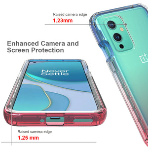 OnePlus 9 Clear Case Full Body Colorful Phone Cover - Gradient Series