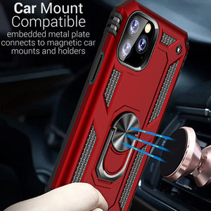 iPhone 11 Pro Case with Metal Ring Kickstand - Resistor Series