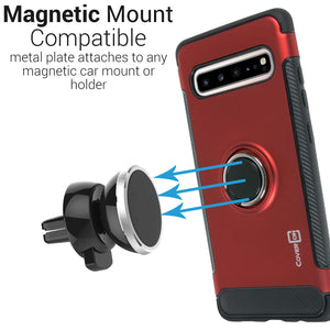 Samsung Galaxy S10 5G Ring Case - Magnetic Car Mount Compatible - Magna Series