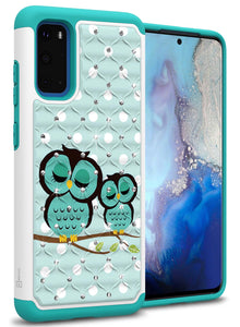 Samsung Galaxy S20 Case - Rhinestone Bling Hybrid Phone Cover - Aurora Series