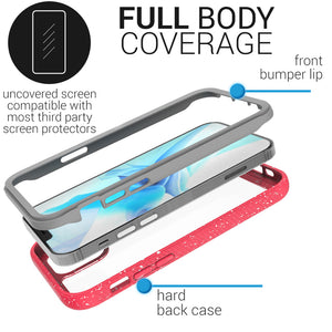 Apple iPhone 12 Mini Case - Heavy Duty Shockproof Clear Phone Cover - EOS Series