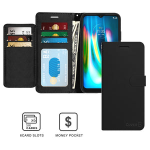 Motorola Moto G9 / Moto G9 Play Wallet Case - RFID Blocking Leather Folio Phone Pouch - CarryALL Series