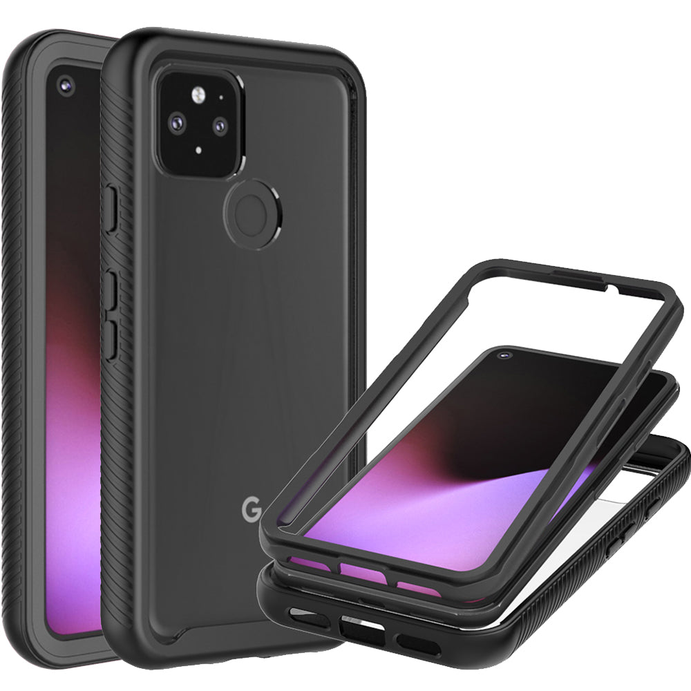 Google Pixel 5 Case - Heavy Duty Shockproof Clear Phone Cover - EOS Series