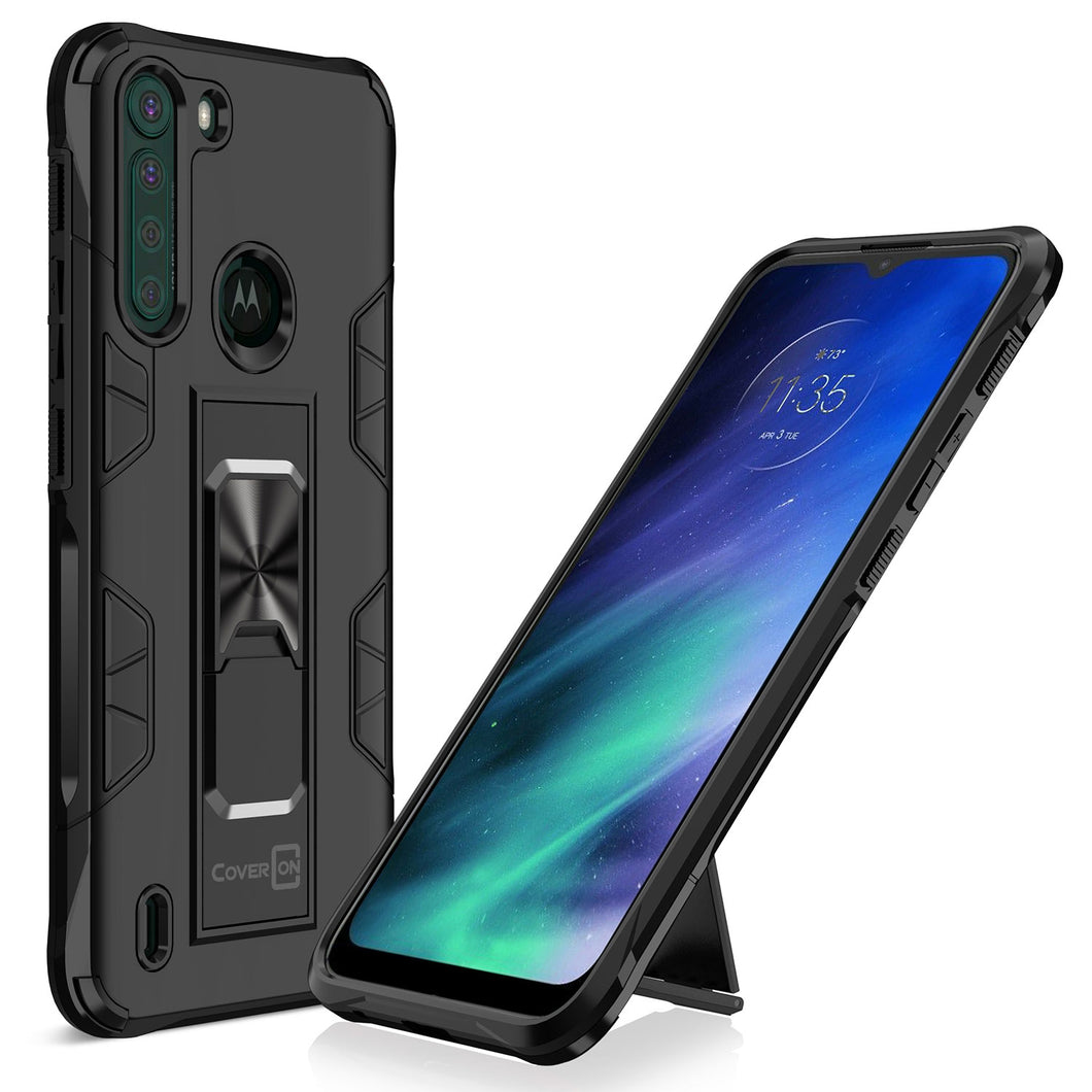 Motorola Moto One Fusion Case with Magnetic Kickstand Ring