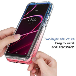 TCL T-Mobile Revvl 5G Clear Case Full Body Colorful Phone Cover - Gradient Series