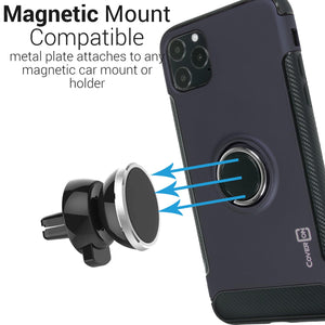 iPhone 11 Pro Max Ring Case - Magnetic Car Mount Compatible - Magna Series