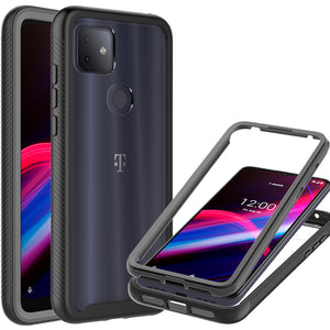 TCL T-Mobile Revvl 4 Plus Case - Heavy Duty Shockproof Clear Phone Cover - EOS Series