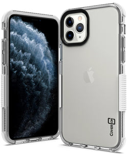 iPhone 11 Pro Max Clear Case - Protective TPU Rubber Phone Cover - Collider Series