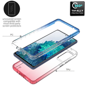 Samsung Galaxy S20 FE / Galaxy S20 FE 5G / Galaxy S20 Fan Edition / Galaxy S20 Lite Clear Case Full Body Colorful Phone Cover - Gradient Series