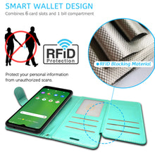 Load image into Gallery viewer, Cricket Ovation / AT&T Radiant Max Wallet Case - RFID Blocking Leather Folio Phone Pouch - CarryALL Series
