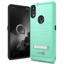 Load image into Gallery viewer, Alcatel 3V 2019 Case - Metal Kickstand Hybrid Phone Cover - SleekStand Series