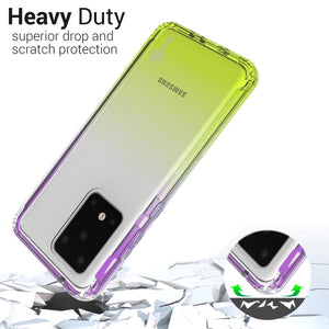 Samsung Galaxy S20 Ultra Clear Case - Full Body Colorful Phone Cover - Gradient Series
