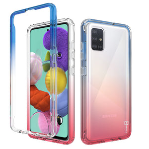 Samsung Galaxy A71 5G UW Clear Case Full Body Colorful Phone Cover - Gradient Series