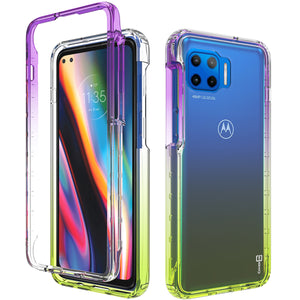 Motorola Moto G 5G Plus / Moto One 5G Clear Case Full Body Colorful Phone Cover - Gradient Series
