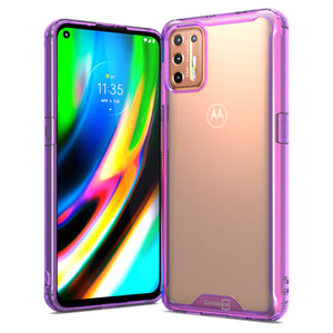 Motorola Moto G9 Plus Clear Case Hard Slim Protective Phone Cover - Pure View Series