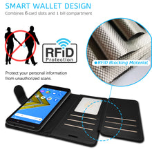 Load image into Gallery viewer, Cricket Icon 2 Wallet Case - RFID Blocking Leather Folio Phone Pouch - CarryALL Series