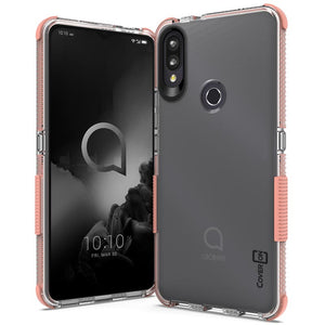 Alcatel 3V 2019 Clear Case - Protective TPU Rubber Phone Cover - Collider Series