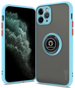 iPhone 11 Pro Case - Clear Tinted Metal Ring Phone Cover - Dynamic Series