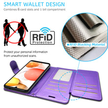 Load image into Gallery viewer, Samsung Galaxy A42 5G Wallet Case - RFID Blocking Leather Folio Phone Pouch - CarryALL Series