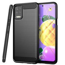 Load image into Gallery viewer, LG K52 / K62 / Q52 Slim Soft Flexible Carbon Fiber Brush Metal Style TPU Case