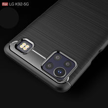 Load image into Gallery viewer, LG K92 5G Slim Soft Flexible Carbon Fiber Brush Metal Style TPU Case