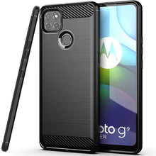 Load image into Gallery viewer, Motorola Moto G9 Power Slim Soft Flexible Carbon Fiber Brush Metal Style TPU Case
