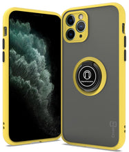Load image into Gallery viewer, iPhone 11 Pro Case - Clear Tinted Metal Ring Phone Cover - Dynamic Series