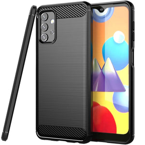 Samsung Galaxy A32 5G Slim Soft Flexible Carbon Fiber Brush Metal Style TPU Case