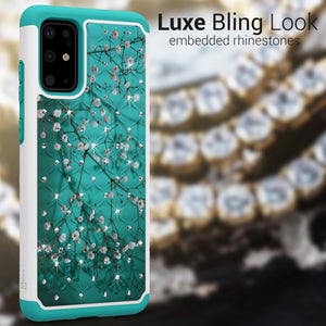 Samsung Galaxy S20 Plus Case - Rhinestone Bling Hybrid Phone Cover - Aurora Series